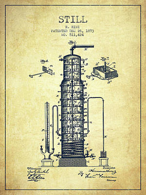 Whiskies Digital Art - 1893 Still Patent Fb82_vn by Aged Pixel
