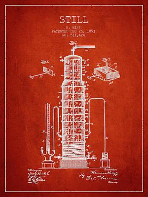 Whiskies Digital Art - 1893 Still Patent Fb82_vr by Aged Pixel