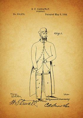 1894 Overcoat Patent Art Print