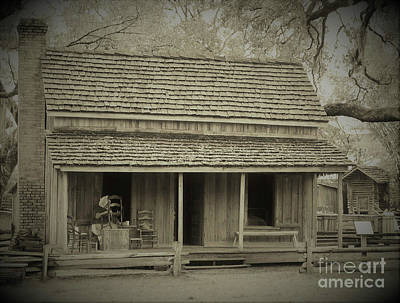 Photograph - 1894 Smith Cracker House Sepia by D Hackett