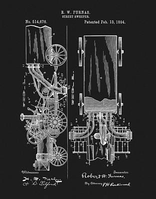 1894 Street Sweeper Patent Art Print