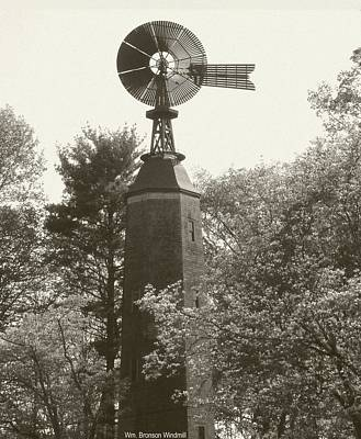 Digital Art - 1894 Windmill - William Bronson Windmill by Margie Avellino