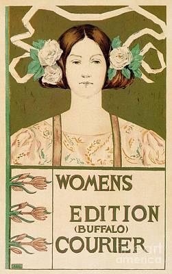 Belle Epoque Digital Art - 1895 Buffalo Courier For Women by Heidi De Leeuw