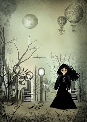 Goth Girl Digital Art - 1895 by Charlene Zatloukal