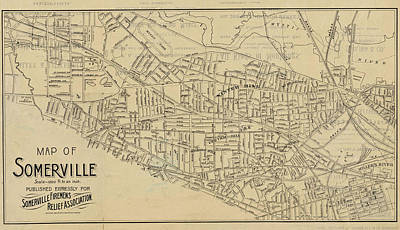 Digital Art - 1895 Map Of Somerville Ma Detailed Historical Map by Toby McGuire