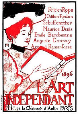 Litterature Photograph - 1896 Art Independant Literary Cover by Heidi De Leeuw