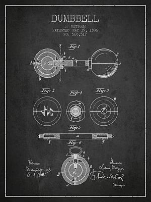 1896 Dumbbell Patent Spbb03_cg Art Print by Aged Pixel
