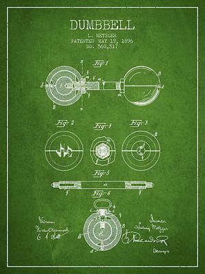 1896 Dumbbell Patent Spbb03_pg Art Print