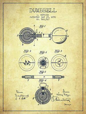 1896 Dumbbell Patent Spbb03_vn Art Print