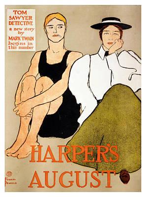 Mixed Media - 1896 Harper's August  Edward Penfield - Vintage Advertising Poster by Studio Grafiikka