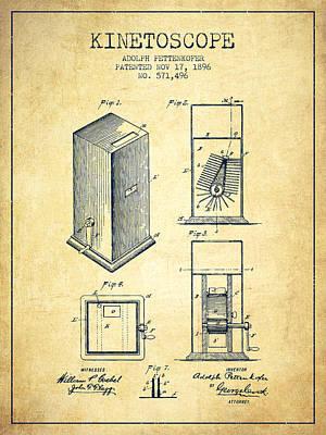 1896 Kinetoscope Patent - Vintage Art Print