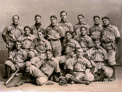 University Of Michigan Photograph - 1896 Michigan Baseball Team by Jon Neidert