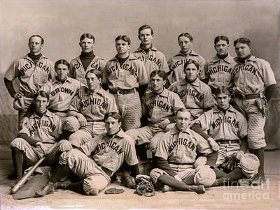 University Of Michigan Photograph - 1896 Michigan Baseball Team by Jon Neidert