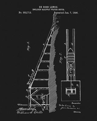 1896 Water Roller Coaster Art Print