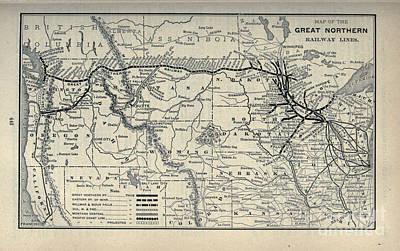 Drawing - 1897 American Great Northern Railway by R Muirhead Art