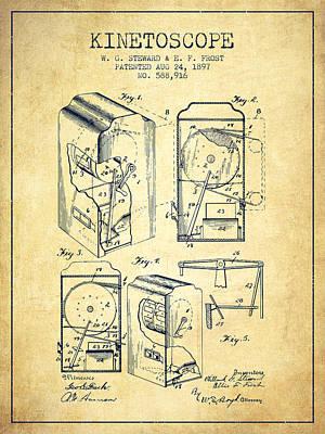 1897 Kinetoscope Patent - Vintage Art Print by Aged Pixel