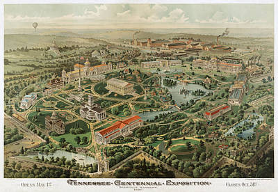 Tennessee Drawing - 1897 Nashville Tennessee by Dan Sproul
