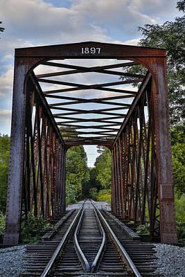 Photograph - 1897 Railroad Bridge by Vance Bell