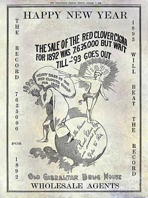 1898 Red Clover Cigars Advertisment Art Print