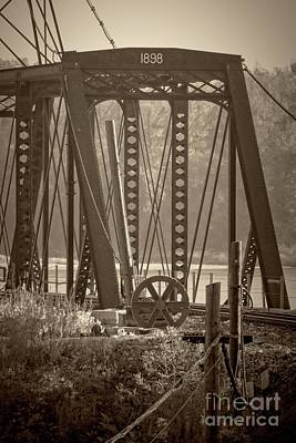 Photograph - 1898 Trestle In Sepia by Imagery by Charly