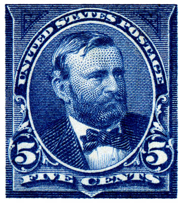 Republican Painting - 1898 Ulysses S. Grant Stamp by Historic Image
