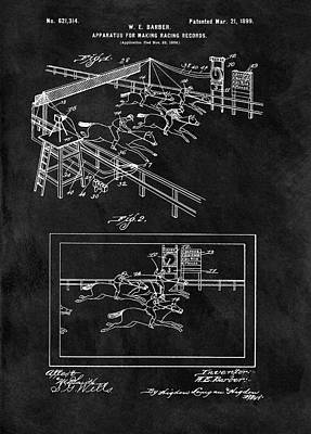 1899 Horse Track Patent Print by Dan Sproul