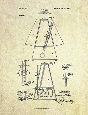 1899 Metronome Patent Art Art Print