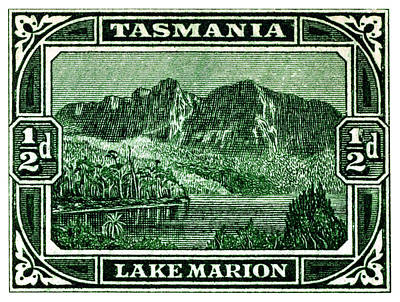 Painting - 1899 Tasmanian Lake Marion Stamp by Historic Image
