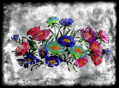 Painting - 18a Abstract Floral Pastel Painting Digital Expressionism by Ricardos Creations