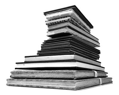 Photograph - 1.8.stack-of-sketch-books by Charlie Szoradi