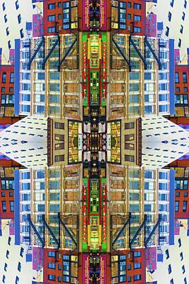 Abstract Skyline Mixed Media - 18th And 7th by Tony Rubino
