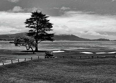 Photograph - 18th At Pebble Beach Horizontal Bw by Judy Vincent