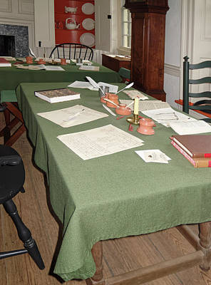 Photograph - 18th Century Conference Room by Sally Weigand