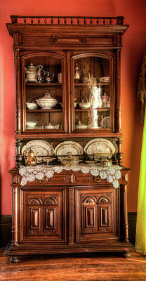 Photograph - 18th Century Display China Cabinet by Douglas Barnett