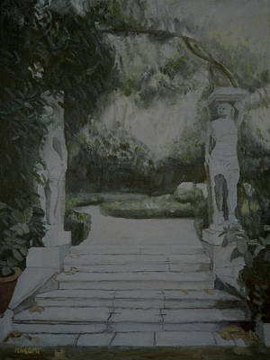 Painting - 18th Century Garden Statuary by Masami Iida