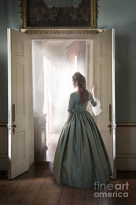 Photograph - 18th Century Georgian Woman Standing At The Doorway   by Lee Avison