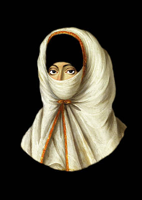 Photograph - 18th Century Veiled Lady by Munir Alawi
