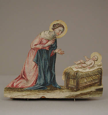 Manger Digital Art - 18th Century   Virgin Mary With Christ In A Manger by Anne Pool