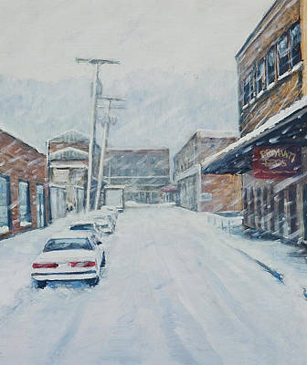 Pittsburgh Painting - 18th From Smallman by Erik Schutzman