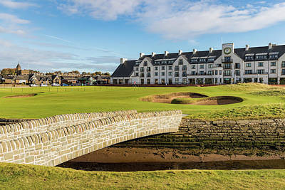Recently Sold - Sports Royalty-Free and Rights-Managed Images - 18th Hole at Carnoustie Golf Links by Mike Centioli