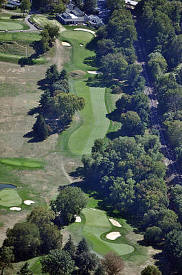18th Hole Gulph Mills Golf Club Aerial 200 Swedeland Road Conshohocken Pa 19428 Art Print by Duncan Pearson