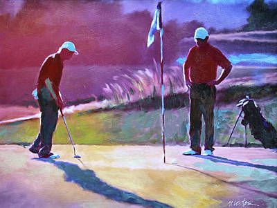 Painting - 18th Hole by Steven Lester