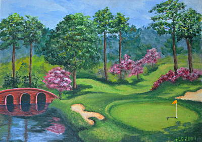 Painting - 18th Hole by Theresa Cangelosi