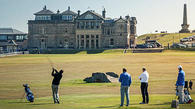 Photograph - 18th Tee St Andrews Scotland Pano by Alex Saunders