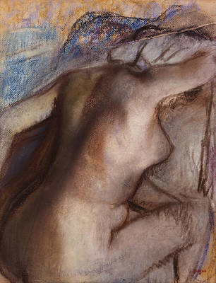 Painting - After The Bath by Edgar Degas