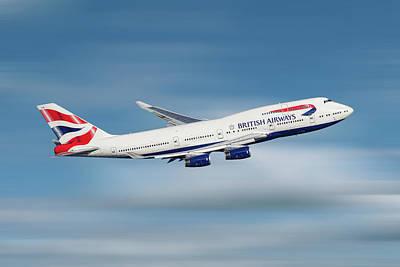 Mixed Media - British Airways Boeing 747-436 by Smart Aviation