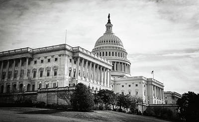 Capitol Hill Building In Washington Dc Art Print by Brandon Bourdages