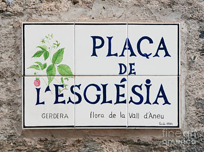 Hand-painted Ceramic Art Tile Photograph - Ceramic Street Sign by Ilan Rosen