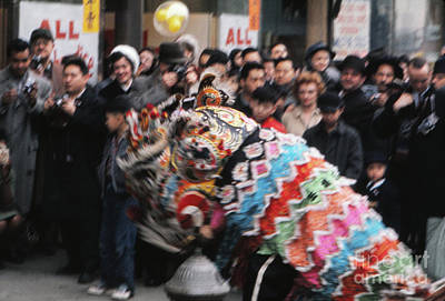 Chinese Fireworks Photograph - Chinese New Year 1963 by The Harrington Collection