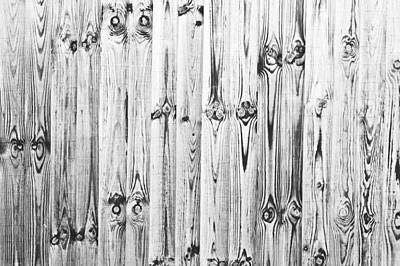 Blue And Brown Photograph - Fence Panels by Tom Gowanlock